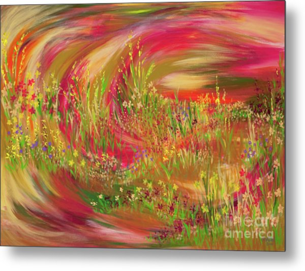 Joy Metal Print by Lisa Bell
