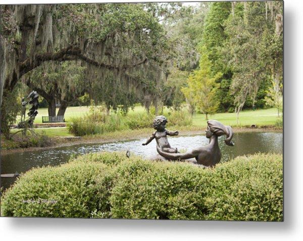 Joy Of Motherhood Willard Hirsch Brookgreen Gardens  South Carolina Metal Print by Jonathan Whichard