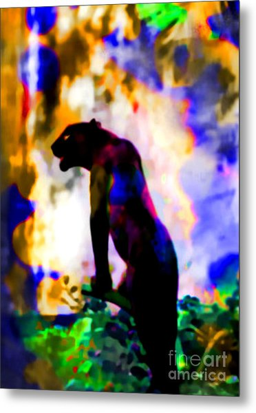 Jungle Cat On The Prowl Metal Print