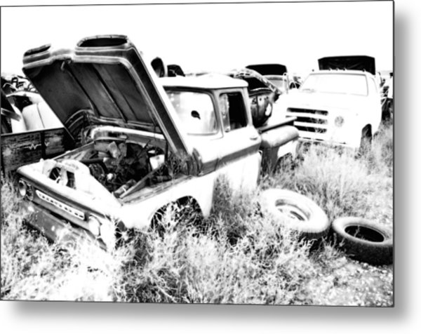 Junkyard Infrared 2 Metal Print by Matthew Angelo