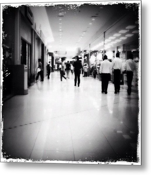 #jusco #shoppingmall #people #walking Metal Print