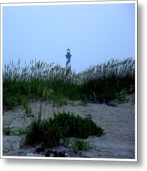 Just Beyond The Sea Oats Metal Print by Frank Wickham