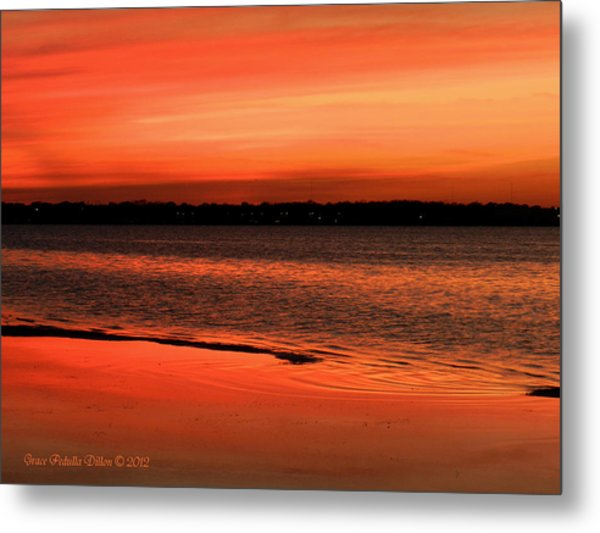 Metal Print featuring the photograph Just Past Sunset by Grace Dillon
