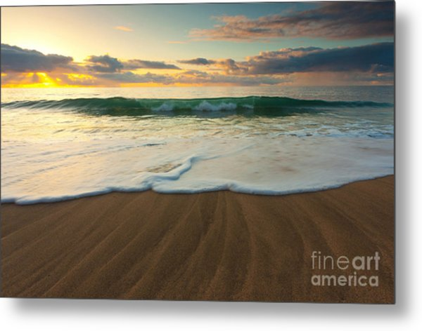 Kalalau Beach Sunset Metal Print by Buck Forester