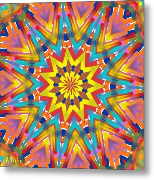 Kaleidoscope Series Number 7 Metal Print