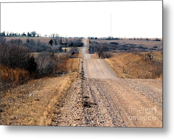 Kansas Gravel Road Metal Print
