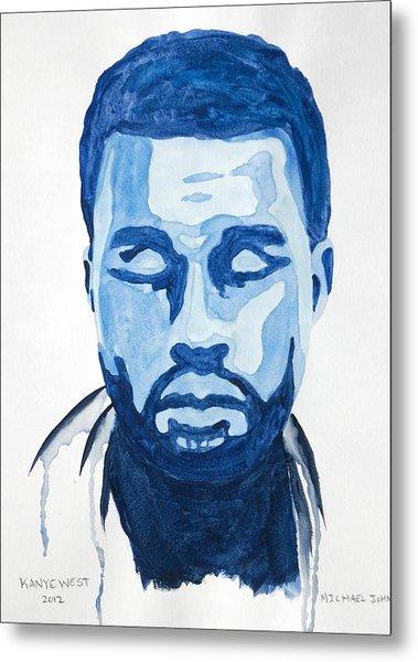 Kanye West Metal Print by Michael Ringwalt