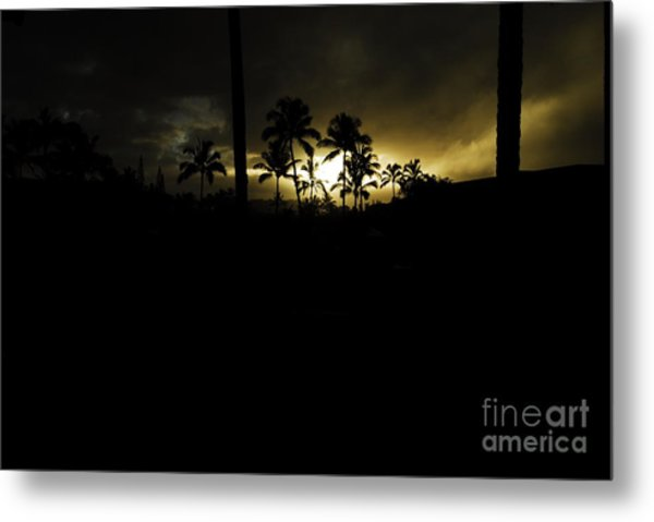 Kauai Storm Sunset Metal Print