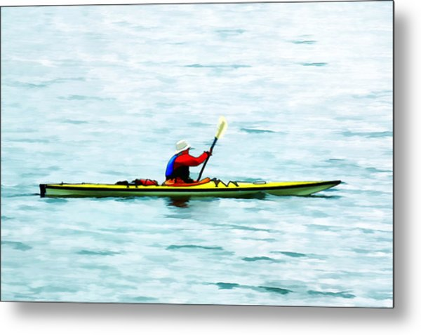 Kayak Out On The Bay Metal Print