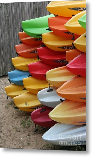 Kayaks Metal Print by Kerryn Davis