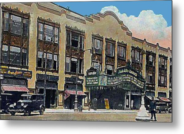 Keith Albee Theatre In Flushing Queens N Y In 1934 Metal Print by Dwight Goss