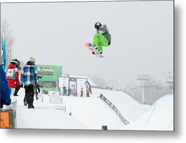 Kelly Clark Womens U S Snow Boarding Open 2011 Metal Print by Linda Pulvermacher