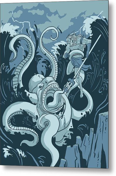 King Neptune Metal Print by Michael Myers