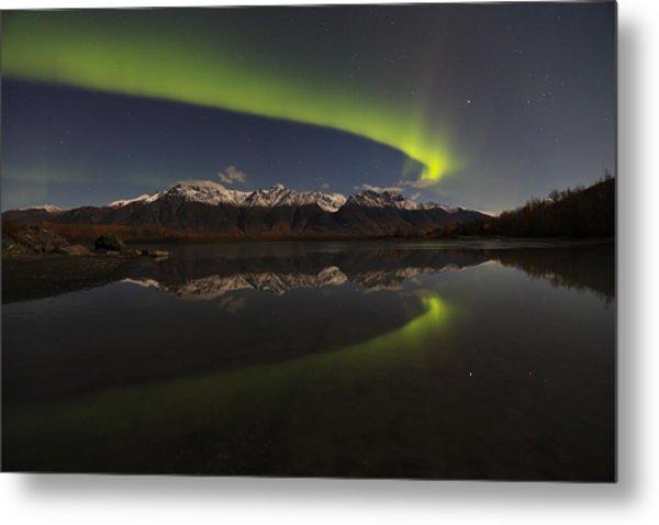 Knik Alaska Northern Lights Metal Print by Sam Amato