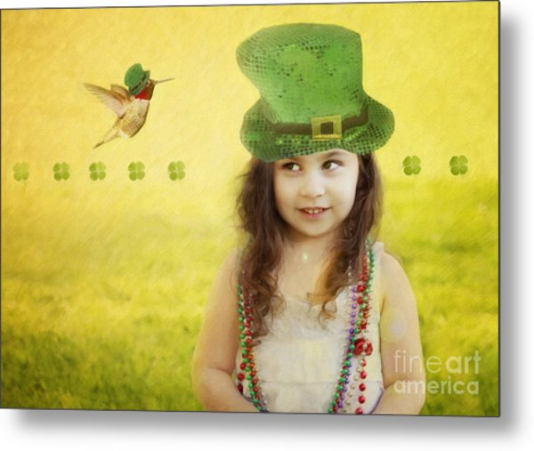 Kiss Me I Am Not Irish Metal Print