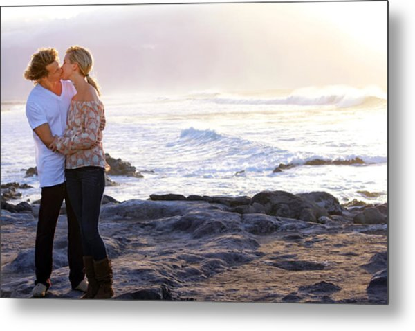 Kissed By The Ocean Metal Print