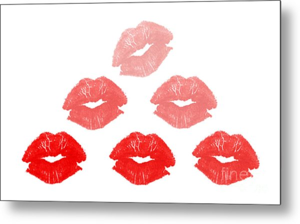 Kisses In Pyramid Shape Metal Print by Blink Images