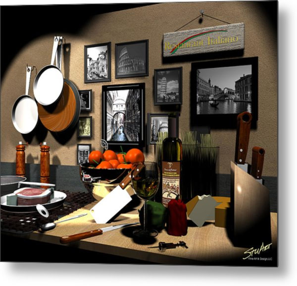 Kitchen Italiano Metal Print