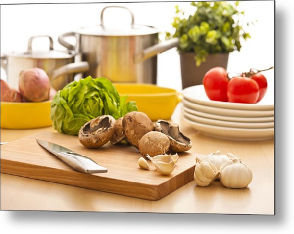 Kitchen Still Life Preparation For Cooking Metal Print