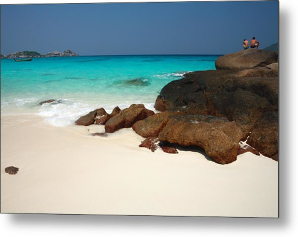 Ko Miang (island Four) Beach Metal Print by Andrew Bain