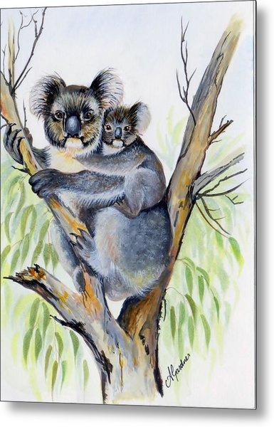 Koala And Baby Metal Print