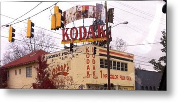 Kodak Building In Atlanta Metal Print by Courtney Gainey