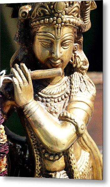 Krishna Song Metal Print by Jennifer Russo
