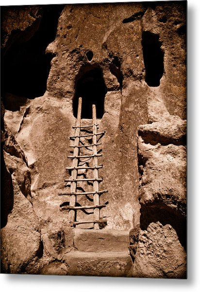 Bandelier National Monument, New Mexico - Ladder Face Metal Print