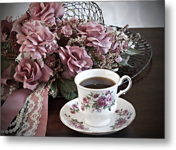 Ladies Tea Time Metal Print