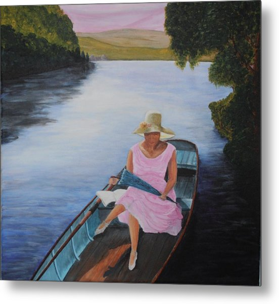 Lady In Pink Metal Print by Siobhan Lawson