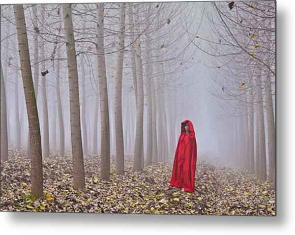 Lady In Red - 7 Metal Print by Okan YILMAZ
