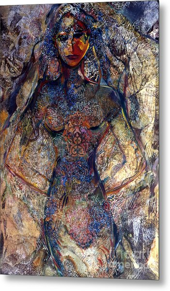 Lady Of Los Lunas Metal Print by Charles B Mitchell
