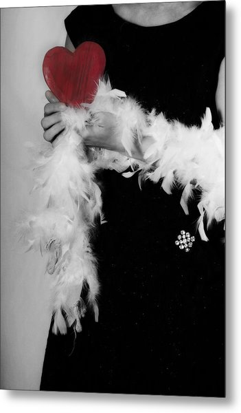 Lady With Heart Metal Print