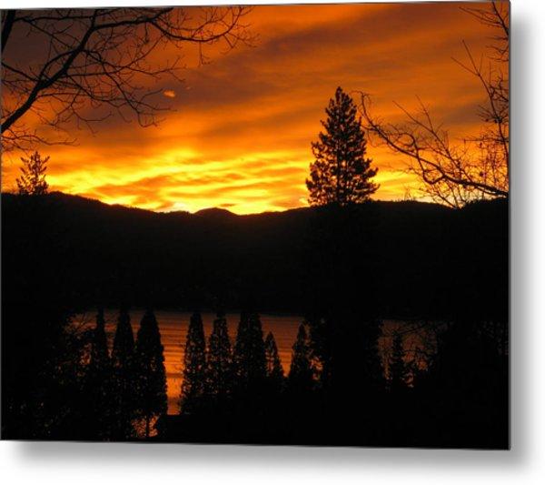 Lake Arrowhead Sunrise Metal Print by Diana Poe