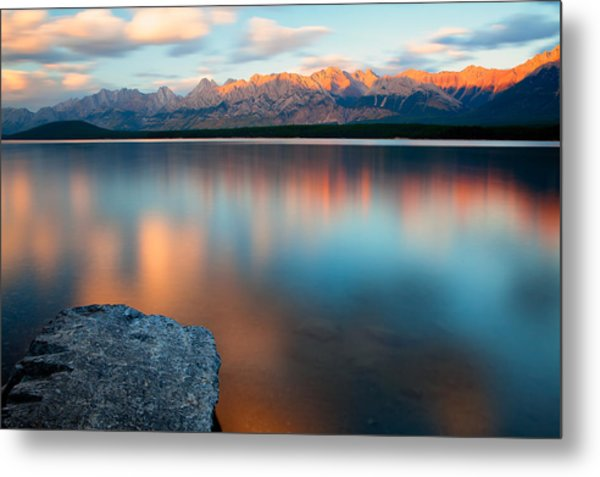 Metal Print featuring the photograph Lake Evening 1 by David Buhler