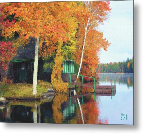 Lake Foliage Metal Print
