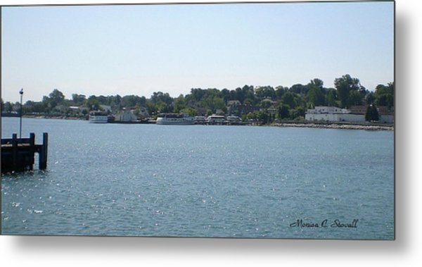 Lake Huron Shoreline Collection - St. Ignace Mi Harbor Metal Print