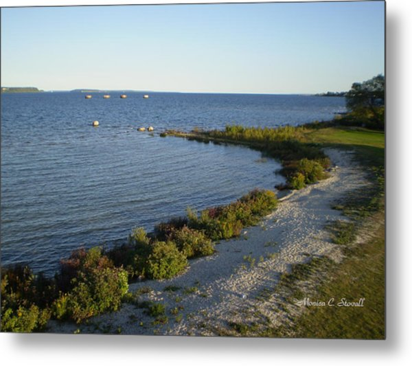 Lake Huron Shoreline Collection - St. Ignace Mi Metal Print