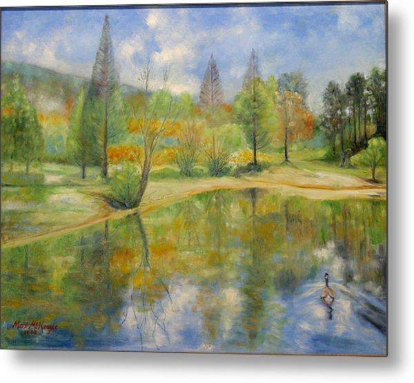 Lake In Springtime. Metal Print by Max Mckenzie