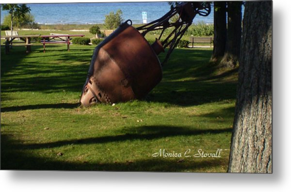 Lake Mi Park - Mackinaw City M Collectionsi   Metal Print