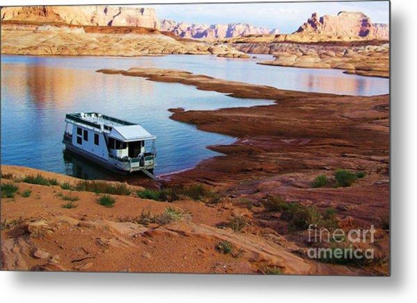 Lake Powell Houseboat Metal Print
