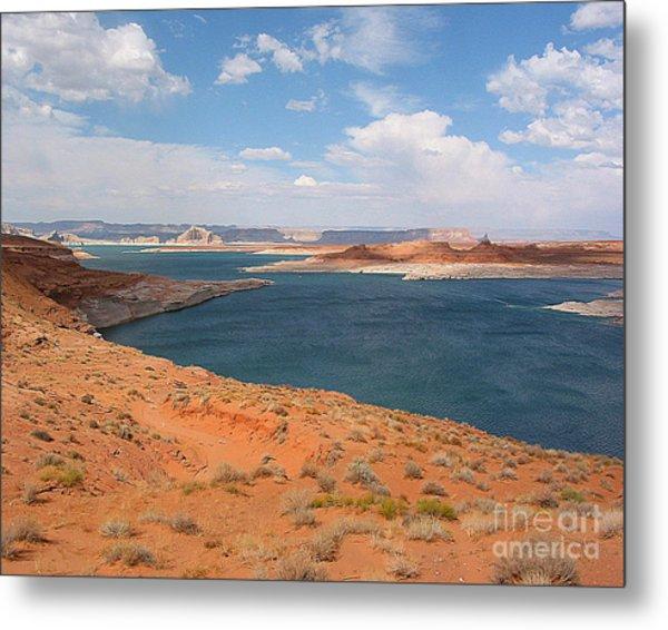 Lake Powell Landscape Panorama Metal Print by Merton Allen