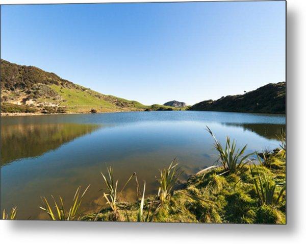 Lake Reflection Metal Print by Graeme Knox