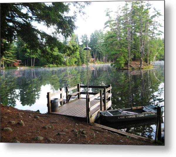 lake Vanare dock Metal Print by Lali Partsvania