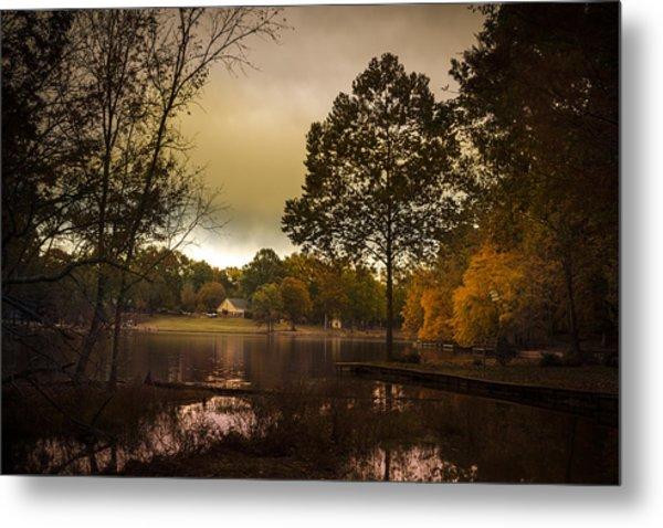 Lakefront Evening Metal Print by Barry Jones