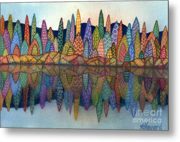 Lakeside Reflection Metal Print