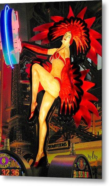 Las Vegas Lady Metal Print