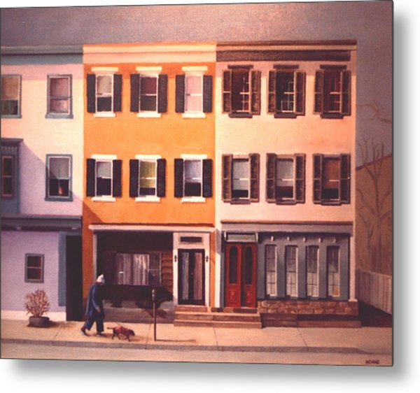 Metal Print featuring the painting Late Afternoon On Church Street by Robert Henne