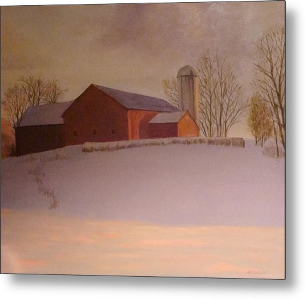 Late Winter At The Lufkin Farm Metal Print by Mark Haley