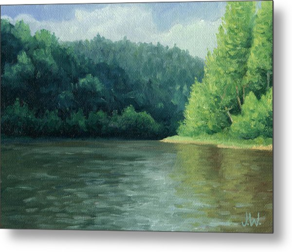Metal Print featuring the painting Later That Day by Joe Winkler